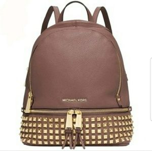 Michael Kors Rhea studded Dusty Rose Backpack